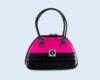 bolso negro y rosa