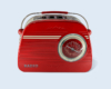 bombones y latas de radios vintage